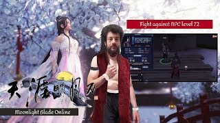 Fight against NPC level 72 - Mooonlight Blade online (Gameplay #50)