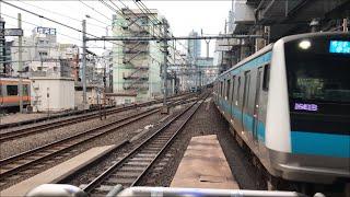 【電車近すぎ!】The trains arriving and passing each other at KANDA Station いろんな電車がいったりきたり!?神田駅 電車動画
