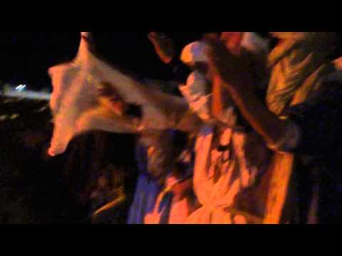 Guys with turbans dancing in Taragalte Festival 2012 – part 2, Mhamid Sahara Morocco