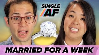 Single People Get Married For A Week • Single AF width=