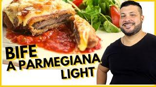 A PARMEGIANA DE CARNE + CHIPS DE MANDIOQUINHA