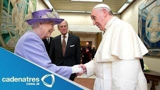 Papa Francisco recibe a la reina Isabel II en El Vaticano