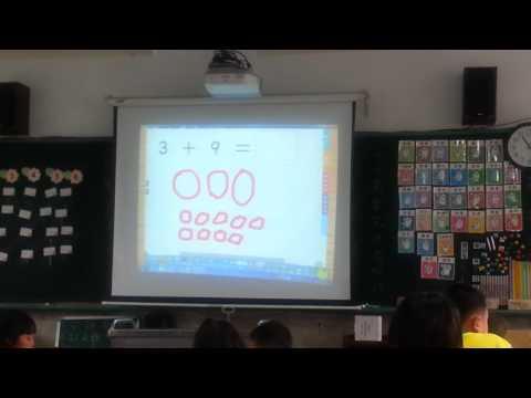 20170307數學課---分解加數與被加數湊成10(存德示範) - YouTube
