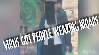 NON MUSLIM WOMAN CAUGHT IN NIQAB - HILARIOUS
