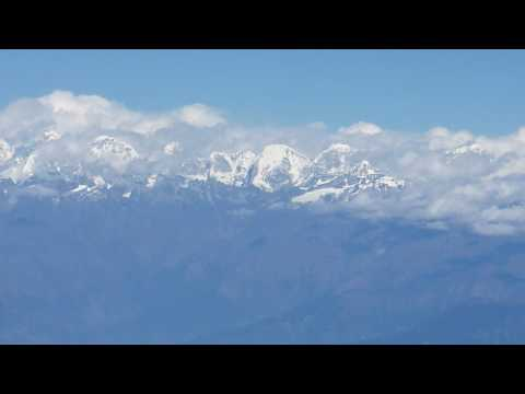 Everest View From Airplane Leaving Kathmandu