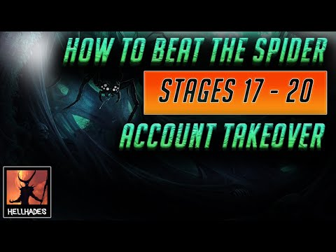 RAID: Shadow Legends | How to Beat Spider level 17 - 20 | Acc takeover! Also bish bash bosh that CB