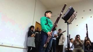 Guilherme tocando Fagote