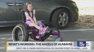 "What's Working: ""Angel"" gives Fairhope girl free beach wheelchair"