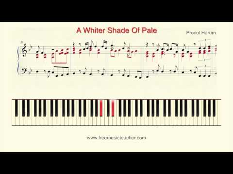 How To Play Piano A Whiter Shade Of Pale Procol Harum Piano