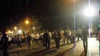 Irene Rosa Perpiñal en la Marcha de Antorchas por José Martí ve pasar a Maduro y a Raúl Castro