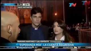 Entrevista MARIANO MARTINEZ y Lali Esposito en TN
