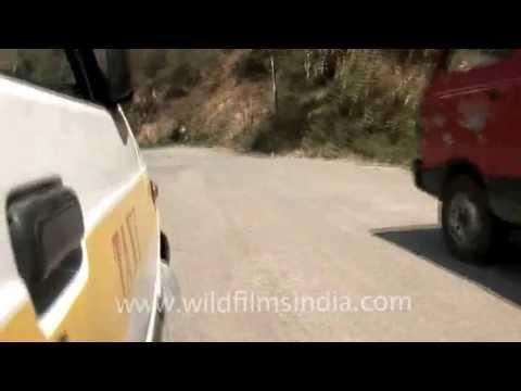Leaving Mizoram in a taxi!
