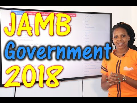 JAMB CBT Government 2018 Past Questions 1 - 20
