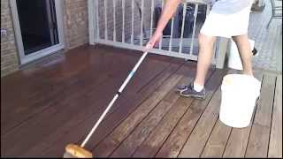 Stain Your Deck Faster With a Car Wash Brush