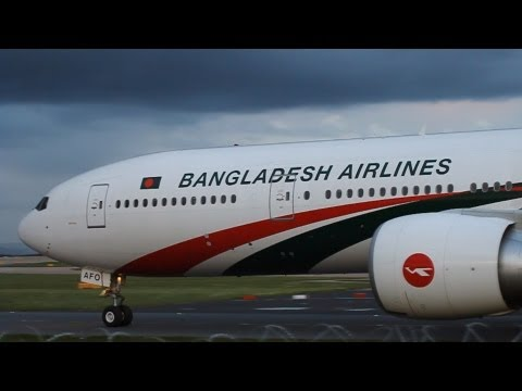 Biman Bangladesh Airlines Boeing 777-300ER @ Manchester Airport (MAN-EGCC)