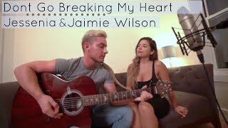 Backstreet Boys - Don't Go Breaking My Heart ( LIVE ) Acoustic Cover Jessenia & Jaimie Wilson