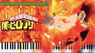 """""""Just Another Hero"""" (Endeavor Theme) - My Hero Academia S2 OST (Piano Cover) [Synthesia]"""