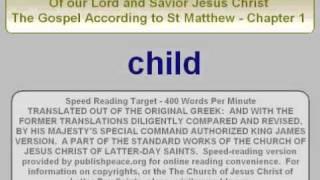 LDS NT Matt 1 - King James Bible, New Testament, The Gospel of Matthew chapter 1
