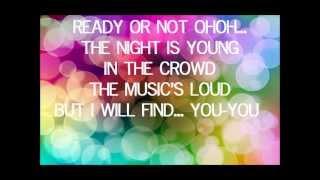 bridgit mendler ready or not instrumental-karaoke  lyrics on screen acoustic version