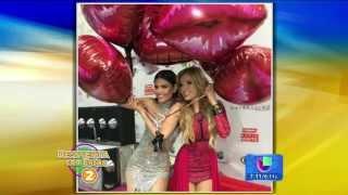 """Chiqui Delgado disfrutó junto a Thalia en Nuestra Belleza Latina (""""Despierta America"""" - 02.03.2015)"""