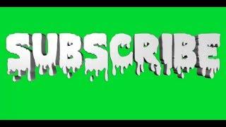 Subscribe Button Green Screen #8