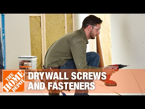 A video highlighting features of drywall screws and fasteners.