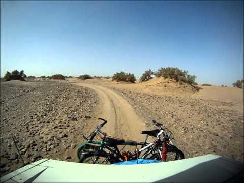 Unimog in the sahara desert, outside M'hamid