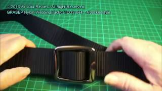 GRASEP Nylon Webbing Tactical Duty Belt - A buckle style