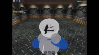 Roblox - Sans & Papyrus VS SANESSSS in Area 51