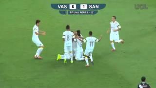 Bruno Peres arrisca de fora da área e marca primeiro gol para o Santos 10 11 13