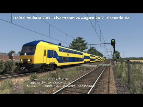 RemkoH IC3635 Zwolle  Roosendaal Livestream 26082017