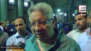 مرتضى منصور يسب صحفية على الهواء