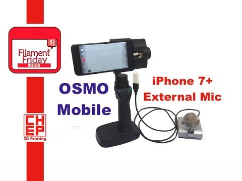 DJI Osmo Mobile - iPhone 7 Plus External Microphone Problem Solved