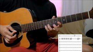 Folha seca - Amado Batista aula solo violão (como tocar)