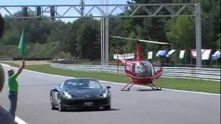 NICE GIRL in Ferrari 458 Italia VS. helicopter at POZNAŃ TRACK GT POLONIA