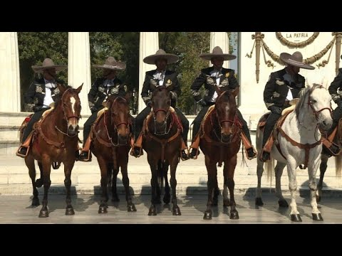 Tourist police wearing charro outfits patrol Mexico City