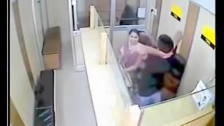 Bank employee CctV Footage **caught on camera**