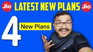 Reliance Jio 4 New Plans आज से मिलेगा सबको | Latest Reliance Jio Unlimited Plans