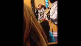 """Crystal Rucker sings, """"Jesus is real to me"""" in Alexandria,L"""