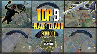 TOP 9 PLACES TO LOOT IN ERANGEL MAP PUBG Mobile