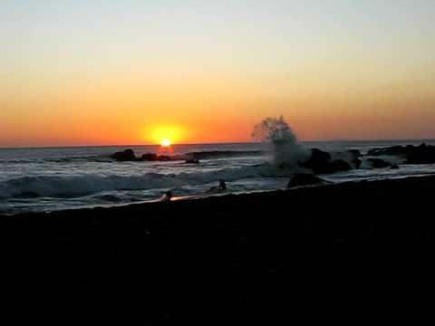 Sunset in timelapse at Las Penitas
