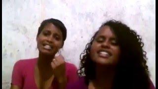 Deborah e Dinah louvando  Jonatas Ribeiro Silêncio de Deus