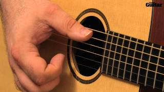 Ed Sheeran-style acoustic guitar lesson - Palm-muted thumb strumming (TG230)