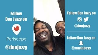 Don Jazzy and D'Banj hang out live on Periscope