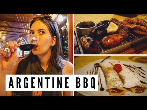 ARGENTINEAN ASADO | Eating a Typical Argentine BBQ in Villa General Belgrano, Argentina