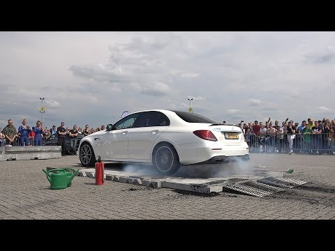 Crazy Mercedes-AMG E63S R800 Destroy a Set of Tyres in 1 Minute!