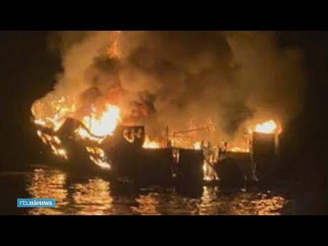 Brand op Amerikaanse boot kost tientallen duikers het leven - RTL NIEUWS