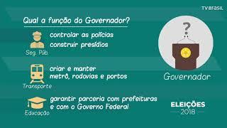Eleições 2018: saiba qual é a função de um governador