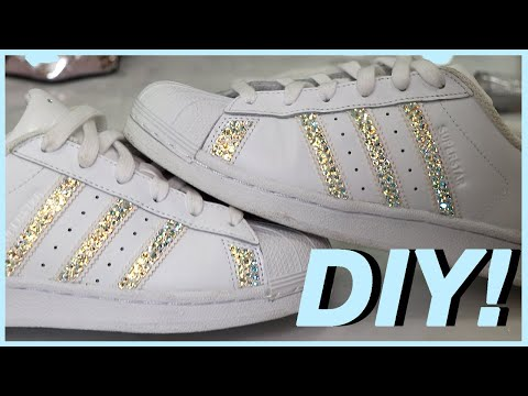 DIY CRYSTAL ADIDAS SNEAKERS! Carli Bybel