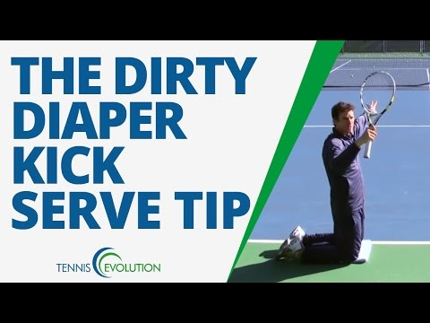 TENNIS KICK SERVE | #1 Tennis Drill To Hit A Kick Serve